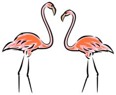 Flamingo Images Clip Art | Pink Flamingos Royalty Free Stock Vector Art Illustration