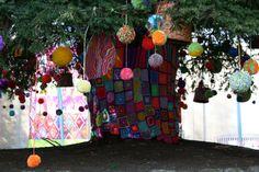 The tree base approaching the Kaffe Fassett exhibition.