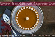 Pumpkin-Spice Cake with Gingersnap Crust