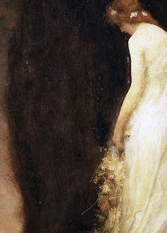 Le Soir (detail) by Gabriel Ferrier (1847-1914) oil on canvas, 1911
