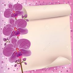 invitation or greeting card with flower purple orchid luxury - Wedding Invitation Background