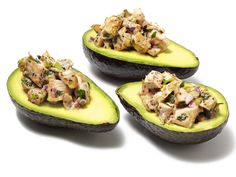 Avos stuffed with Celery Leaf Chicken Salad