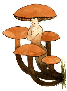 Mushroom Pieces by Eveline Tarunadjaja