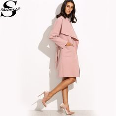 Online shopping for Pink Drop Shoulder Drape Collar Wrap Coat from a great selection of women's fashion clothing & more at MakeMeChic. Fashion 2017, Fashion Outfits, Womens Fashion, Fashion Trends, Style Couture, Couture Fashion, Wrap Coat, Bridal Fashion Week, All About Fashion