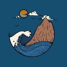 Added some color  • • • • • • #illustration#design#doodle#art#sketch#wave#mountain#outdoors#nature#adventure#explore#ocean#instaart#instagood#rva#tattoo#vsco#minimal#painting#drawing#digitalartist#linework#adventure#explore#fineliner#beautiful#beach#summer#winter#cliff#graphicdesign#blue#wave