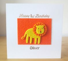 Check out this item in my Etsy shop https://www.etsy.com/uk/listing/464663794/lion-card-first-birthday-card-1st-2nd