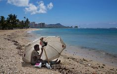 There are 487 homeless per 100,000 people in Hawaii, which is the highest rate per capita in the nation.