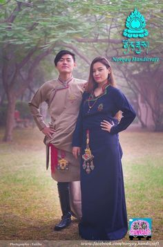 Tibetan traditional dress #Chupa Folk Fashion, Women's Fashion, Folk Style, Asian History, Character Outfits, Tibet, Traditional Dresses, Lost, Style Inspiration