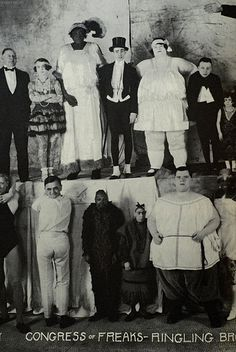 """Congress of Freaks"" Ringling Brothers sideshow/freakshow attraction- vintage photo."