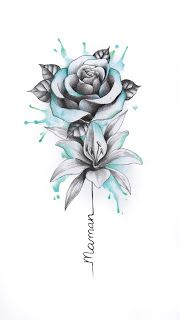 Do you need an individual design? Then you are right here. # tattoos - diy tattoo images - Tattoo Designs For Women Body Art Tattoos, Tattoo Drawings, New Tattoos, Small Tattoos, Sleeve Tattoos, Tatoos, Flower Drawings, Drawing Flowers, Tattoo Sketches