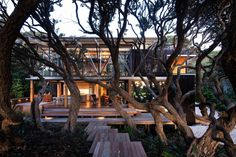 Under Pohutukawa by Herbst Architects. this house is a beguiling essay in the relationship between structure and setting, order and nature, requirements and responsibilities. I love it.
