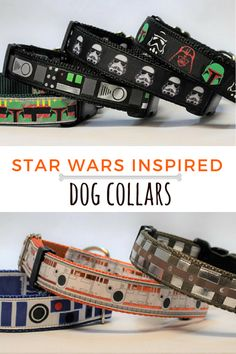 These Star Wars inspired dog collars are awesome. I love the Darth Vader collar. Perfect gift idea for every Star Wars lover pet owner. #ad #starwars #dogcollar #petowner #giftidea #darthvader #stormtrooper #bb8 #r2d2 #chewbacca #bobafett #geek