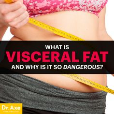 Visceral Fat: What It Is and Why It's So Dangerous: Most people view body fat as relatively harmless and merely something we want to banish to look and feel better, but did you know that certain types . Adipose Tissue, Visceral Fat, Dr Axe, Fat Loss Diet, Burn Belly Fat, Fat Fast, Fat Burning, Health Tips, Health Fitness