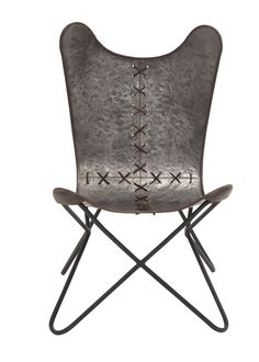 Metal Stitched Side Chair