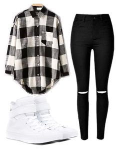 """Untitled #145"" by e220012c ❤ liked on Polyvore featuring Converse, women's clothing, women, female, woman, misses and juniors"