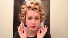 Pin Curls Marilyn Monroe Glamour Curls Vintage Hair Tutorial just curling iron and pins, no rollers. Vintage Hairstyles Tutorial, 1940s Hairstyles, Curled Hairstyles, Trendy Hairstyles, Wedding Hairstyles, Marilyn Monroe Hairstyles, Vintage Makeup Tutorials, 50s Hair Tutorials, Retro Updo