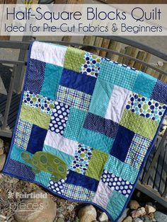 Pieces by Polly: Easy Half-Square Blocks Quilt - Easy Pre-Cut Cuddle Cake and Layer Cake Pattern