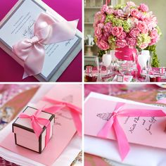 like the small pink box for wedding favors at each table. no brown of course! with a yummy truffle or some sweet inside :)