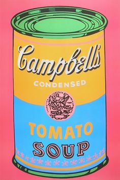 campbell's blue soup | Andy Warhol Campbells Tomato Soup ( gross ) Poster Kunstdruck bei ...
