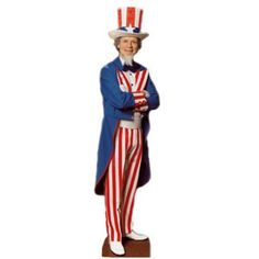 Uncle Sam Cardboard Cutout (Qty per unit: 1). This Uncle Sam cutout is sure to impress your friends this Thanksgiving. http://www.novelties-direct.co.uk/uncle-sam-usa-cardboard-cutout-height-188-cm-74-6ft-2.html