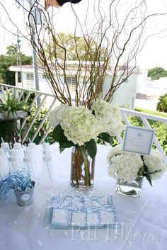 I could do this with glittered hydrangeas and white sticks for Christmas