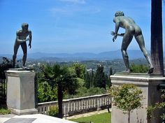 View from the terrace of Achilleion Palace, Corfu, Greece Ancient Olympics, Tame Animals, Western Philosophy, Corfu Greece, Satyr, Her World, Flowering Trees, Greek Islands, Sissi