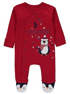 My First Christmas Penguin Sleepsuit, read reviews and buy online at George at ASDA. Shop from our latest range in Baby. There's no cuter introduction to the...