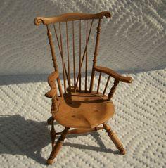 Bill and Peggy Birkemeier, Studio B Miniatures - Windsor chair