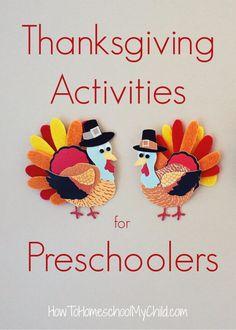 3 Simple Thanksgiving Activities for Preschoolers