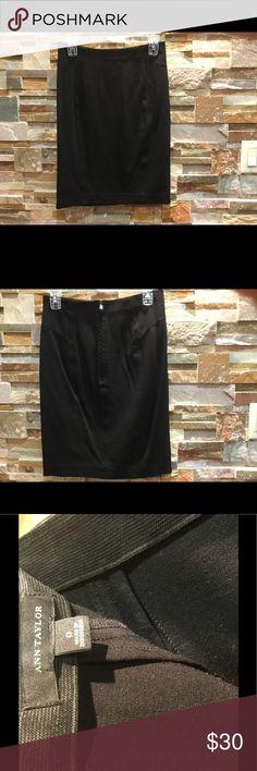 Ann Taylor black skirt. Good condition, spandex. Ann Taylor Skirts Pencil