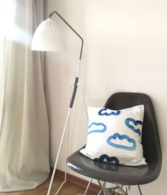 Cushion/pillow cover with clouds by Berlin based design house www.hellopetersen.com