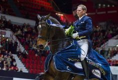 Henri Rust and great energetic Roble won their success in the international Kürin! Helsinki International Horse Show, Finland, October 2016