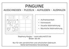 Pinguin-puzzles #freebie #Wahrnehmung #Feinmotorik