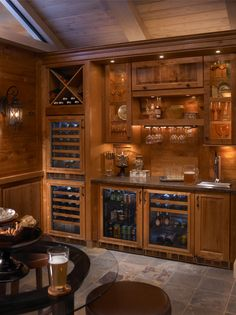 A beautiful in-home wine room, equipped with Perlick Wine Refrigerators. Wine tasting just got even better!