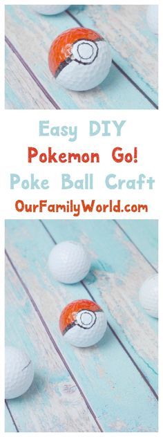 These cute DIY Poke Balls are so easy to make with the kids! They're perfect for that Pokemon Go theme party too!