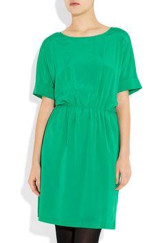 DKNY Stretch Silk-Crepe Dress