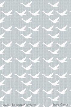 lovelui blog: Pattern - Snow Goose In Flight