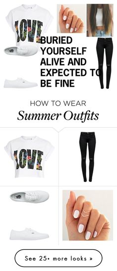 """""""Fire-PVRIS"""" by celeste102003 on Polyvore featuring River Island, J Brand and Vans"""