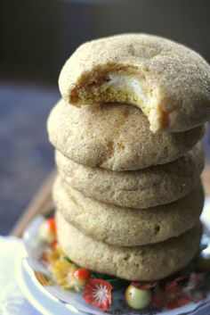 Cream Cheese Filled Pumpkin Snickerdoodles Recipe ~ Says: These cookies are fan-freaking-tastic, and yes, I do find them totally irresistible!