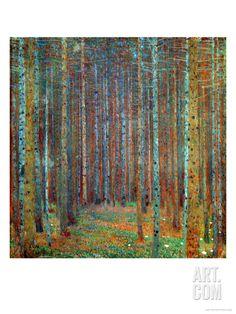 Tannenwald (Pine Forest), 1902, by Gustav Klimt
