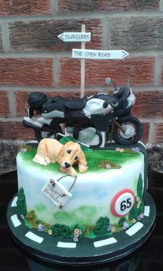 Suzuki motorbike cake - Cake by Karen Flude Happy Birthday Andy, Cake Icing, Eat Cake, Motorbike Cake, Harley Davidson Cake, Animal Cakes, Cakes For Men, Chocolate Fudge, Themed Cakes