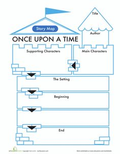 First Grade Comprehension Writing Stories Worksheets: Fairy Tale Story Map