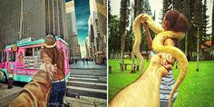 9)Follow Me To . . . (From the rice fields of Bali to the streets of Istanbul, Russian photographer Murad Osmann documents his globetrotting travels with his girlfriend leading the way. With each photo, posted to Instagram, we see the photographer's point of view with his extended hand holding onto his partner's)
