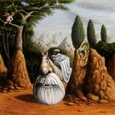 Buy 'Apparition in a Landscape' by Jósean Figueroa as a Throw Pillow, Tote Bag, Greeting Card, or iPad Case/Skin Optical Illusion Paintings, Optical Illusions Pictures, Illusion Pictures, Illusion Drawings, Illusion Art, Op Art, Des Photos Saisissantes, Image Halloween, Image Nature