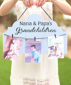 Personalized Grandchildren Clip Sign