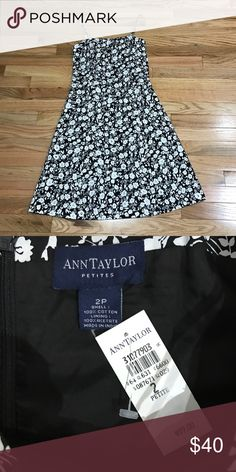 Ann Taylor NWT 2P Dress NWT Ann Taylor black and white floral spaghetti strap dress, size 2P, gorgeous! Ann Taylor Dresses
