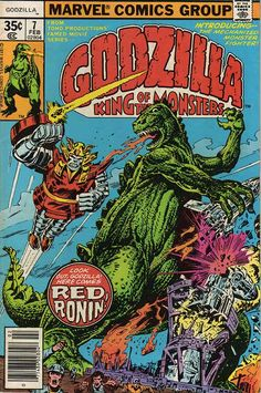 godzilla comic art | RED RONIN - GODZILLA - MARVEL COMICS
