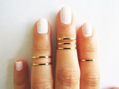 Set of 6 stack midi rings, Gold jewelry, Wire ring, Gold accessories AEBGFE