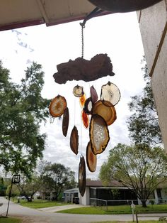 Vintage Driftwood and Geode Agate Garden Wind Chime Rusty Garden, Driftwood, Wind Chimes, Agate, Unique Jewelry, Handmade Gifts, Outdoor Decor, Etsy, Vintage