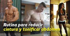 Los ejercicios de esta rutina de abdomen trabajan los abdominales laterales, superiores e inferiores de esta forma se logra marcar de forma simétrica el abdomen